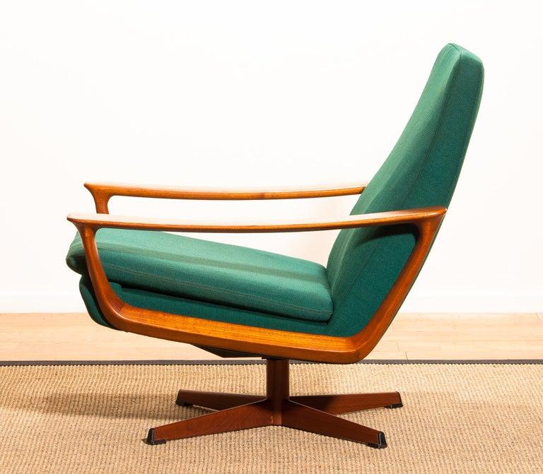 Metal 1960s, Teak Swivel Chair by Johannes Andersen for Trensum Denmark For Sale
