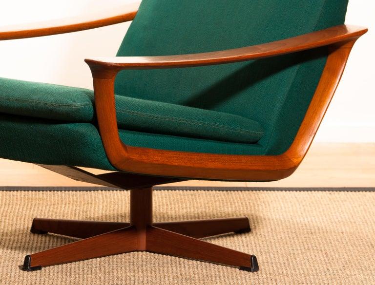 1960s, Teak Swivel Chair by Johannes Andersen for Trensum Denmark For Sale 1