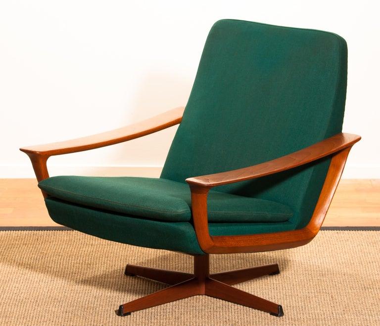 1960s, Teak Swivel Chair by Johannes Andersen for Trensum Denmark For Sale 6