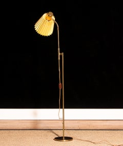 Adjustable Brass Floor Lamp by Möllers Armaturfabrik Sweden