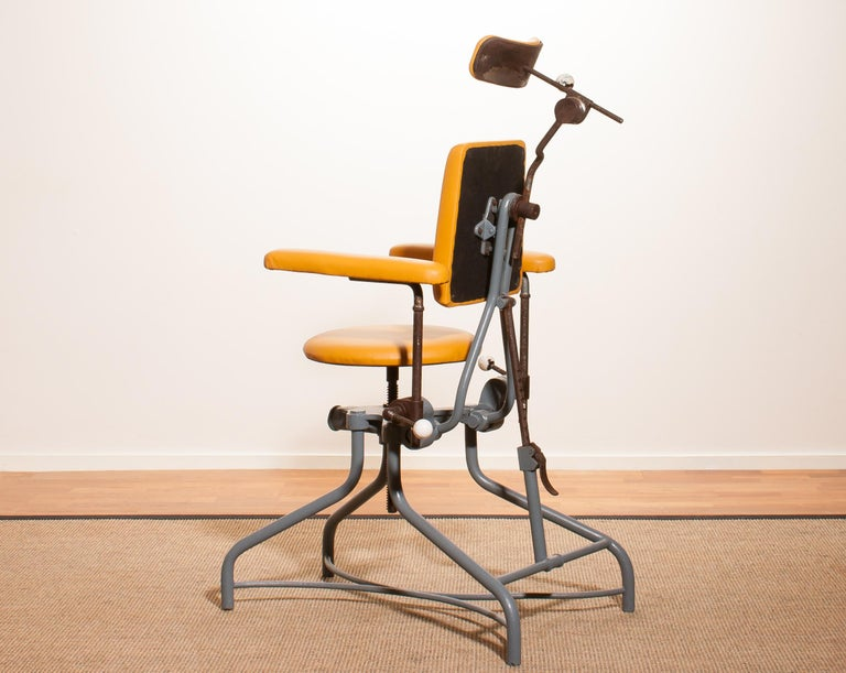 Mid-20th Century 1930s, Steel Medical or Dentist Chair For Sale