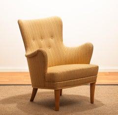"""Carl Malmsten easy / lounge chair """"Gävle"""" by OH Sjogren"""