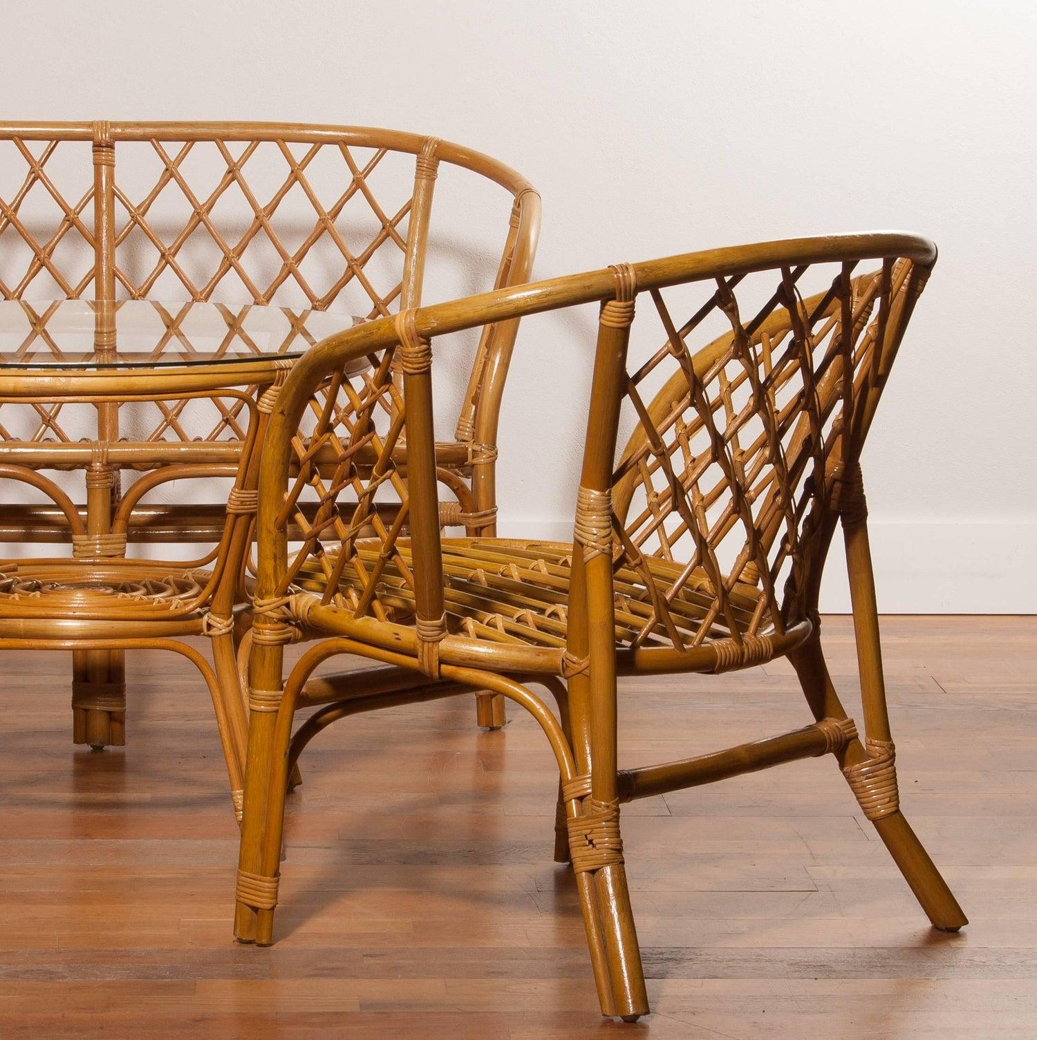 Egg Chair Rotan.1970s A Beautiful Rattan Garden Set At 1stdibs