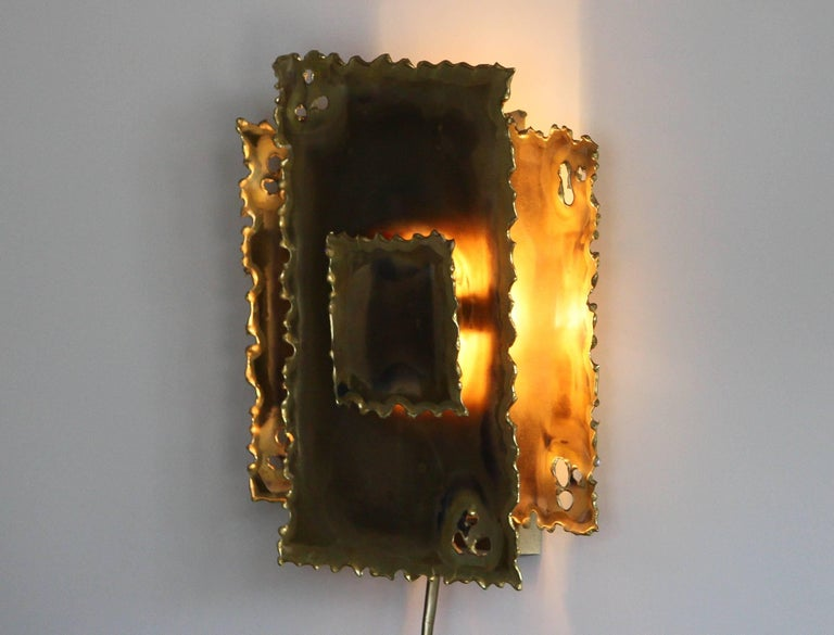 Danish 1960s, Brass Wall Light by Svend Aage Holm Sørensen For Sale