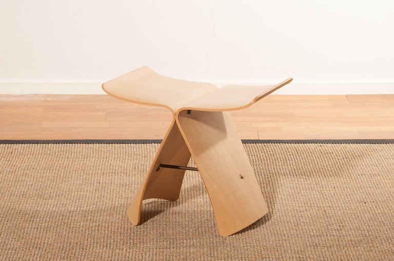 Beautiful butterfly stool designed by Sori Yanagi in 1954 and manufactured by Tendo Mokko Japan.