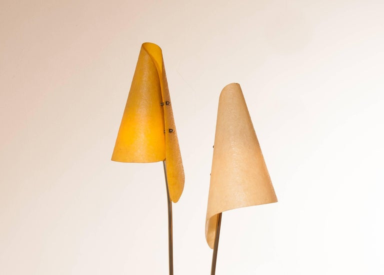1960s, Fibreglass Two Shades Floor Lamp, Germany In Excellent Condition For Sale In Silvolde, Gelderland