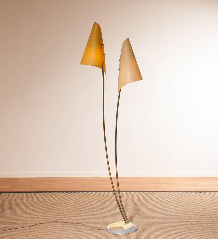 Mid-20th Century 1960s, Fibreglass Two Shades Floor Lamp, Germany For Sale
