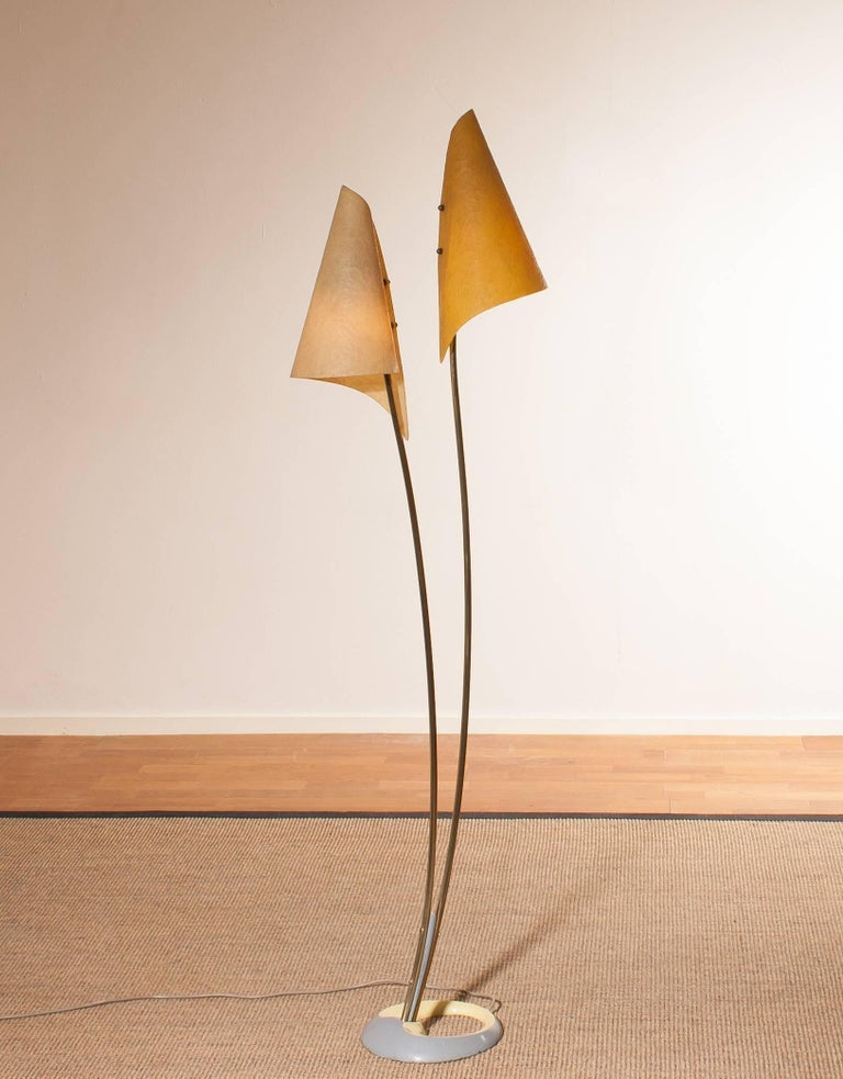 1960s, Fibreglass Two Shades Floor Lamp, Germany For Sale 1