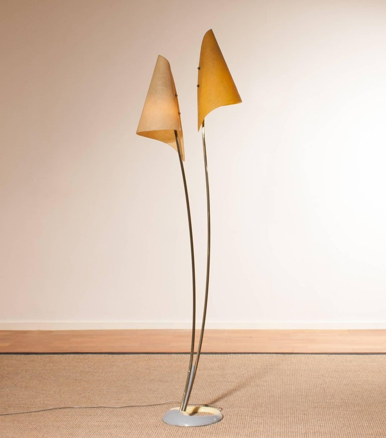 1960s, Fibreglass Two Shades Floor Lamp, Germany For Sale 2