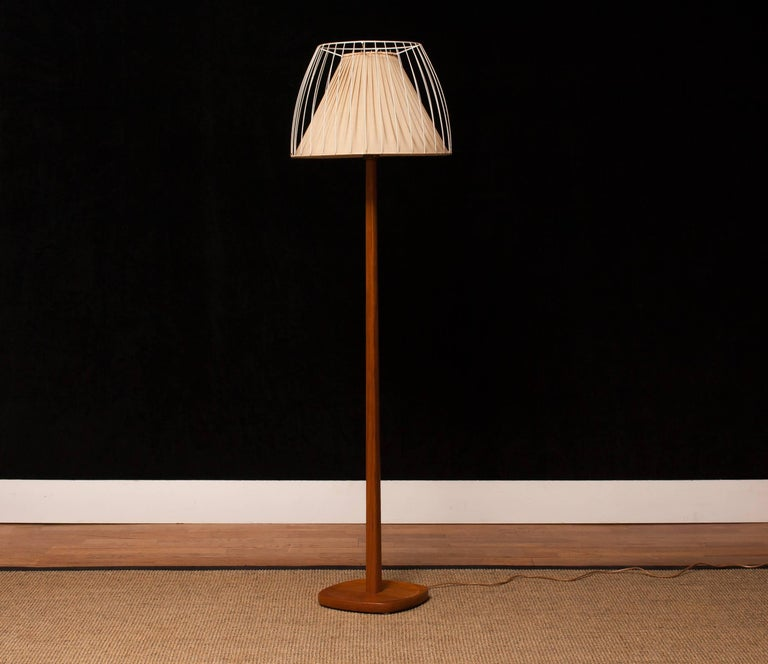 Swedish 1950s, Teak Floor Lamp by Stilarmatur, Sweden For Sale