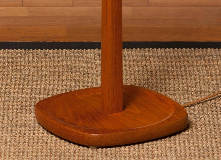 Mid-20th Century 1950s, Teak Floor Lamp by Stilarmatur, Sweden For Sale