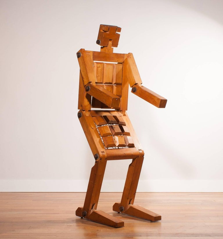 1970s, Pinewood Robot Chair For Sale 2