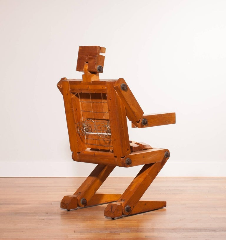 1970s, Pinewood Robot Chair For Sale 1