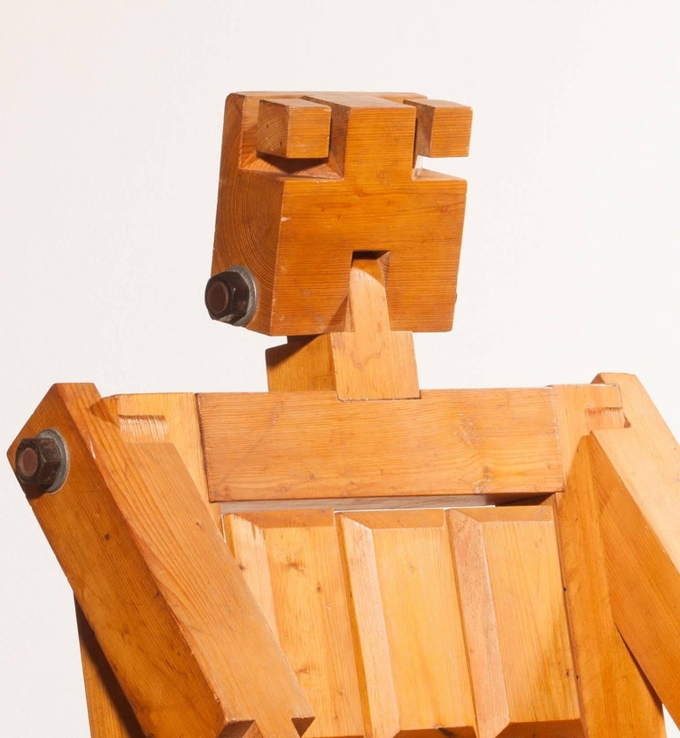 1970s, Pinewood Robot Chair For Sale 6