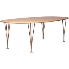 1960s, 'Superelipse' Dining Table by Piet Hein & Bruno Mathsson