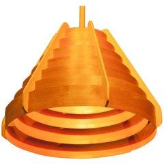 1960s Pine Bent Wood Large Pendant by Hans-Agne Jakobsson for Ellysett