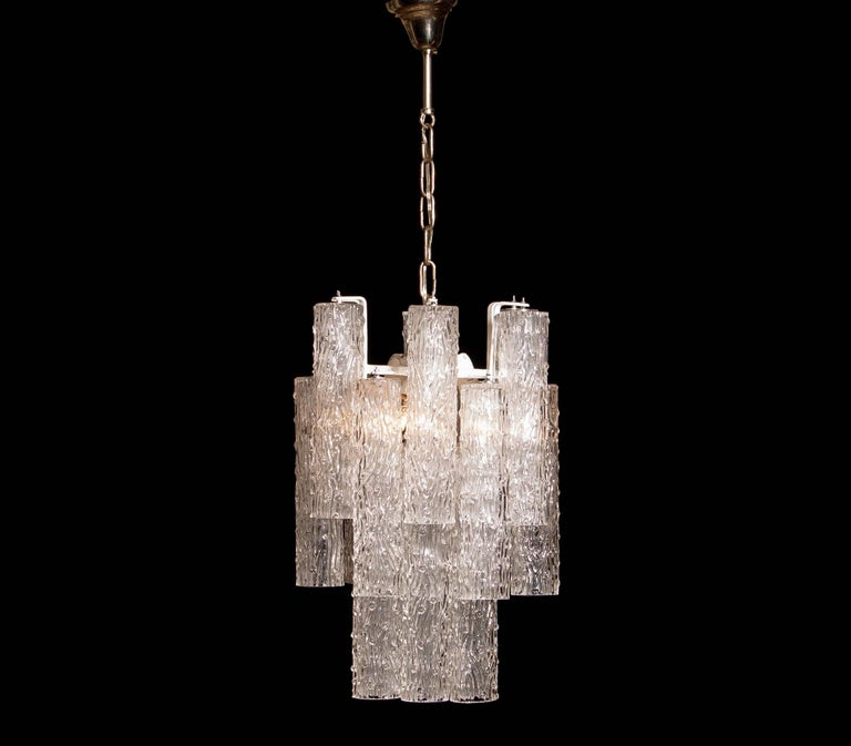 1960s, Murano Glass Chandelier by Toni Zuccheri For Sale 2
