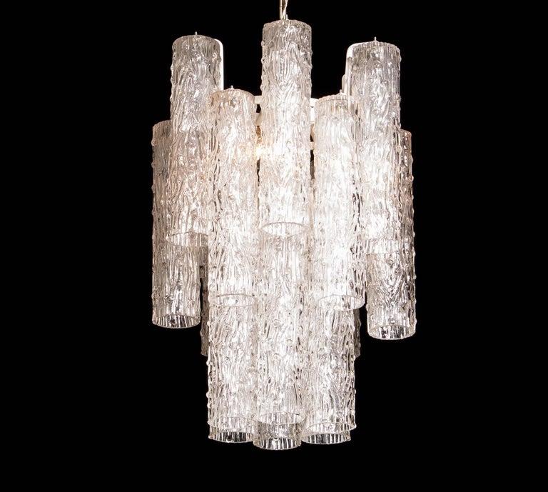 Italian 1960s, Murano Glass Chandelier by Toni Zuccheri For Sale