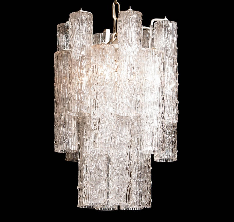 Lacquered 1960s, Murano Glass Chandelier by Toni Zuccheri For Sale