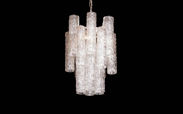 Mid-20th Century 1960s, Murano Glass Chandelier by Toni Zuccheri For Sale