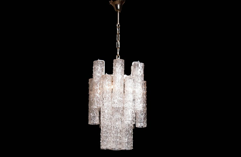 1960s, Murano Glass Chandelier by Toni Zuccheri For Sale 1
