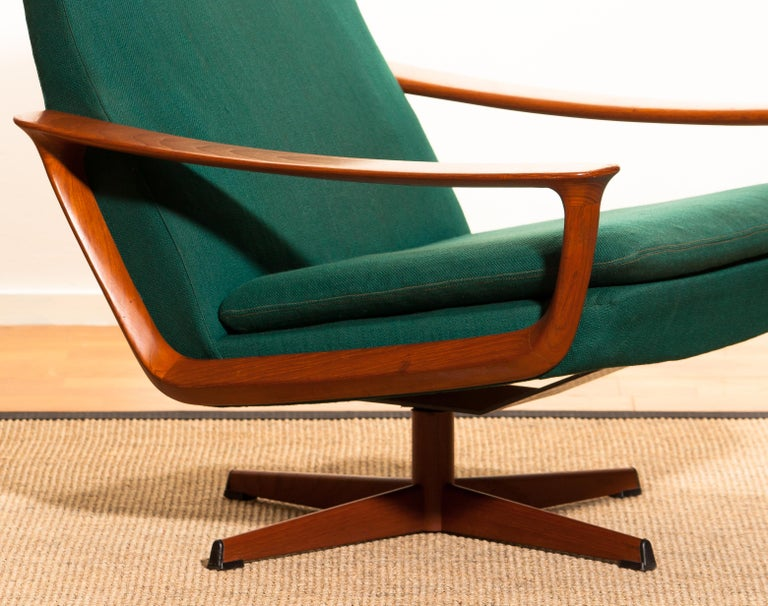 1960s, Teak Set of Two Swivel Chairs by Johannes Andersson for Trensum Denmark For Sale 8