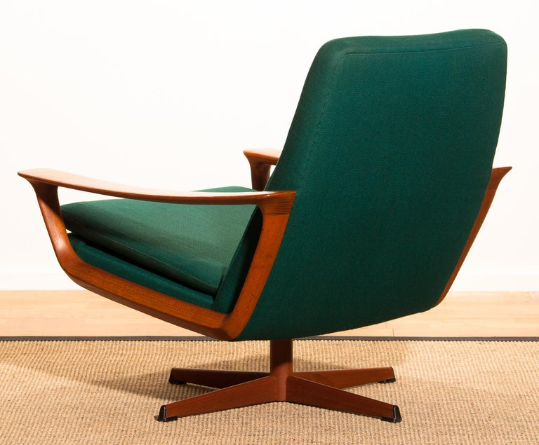 1960s, Teak Set of Two Swivel Chairs by Johannes Andersson for Trensum Denmark For Sale 11