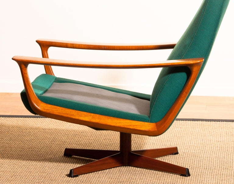 1960s, Teak Set of Two Swivel Chairs by Johannes Andersson for Trensum Denmark For Sale 13