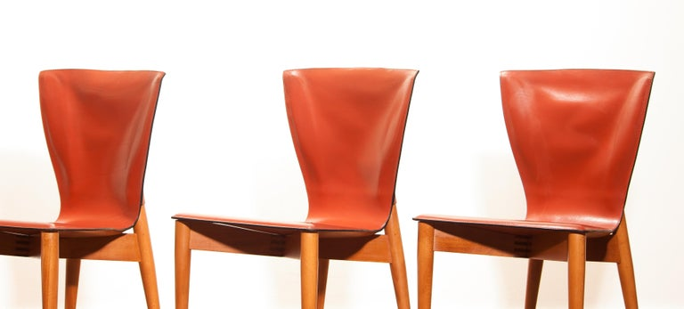 1970s, Set of Four Carlo Bartoli for Matteo Grassi 'Vela' Dining Side Chairs For Sale 1