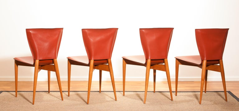 1970s, Set of Four Carlo Bartoli for Matteo Grassi 'Vela' Dining Side Chairs For Sale 2