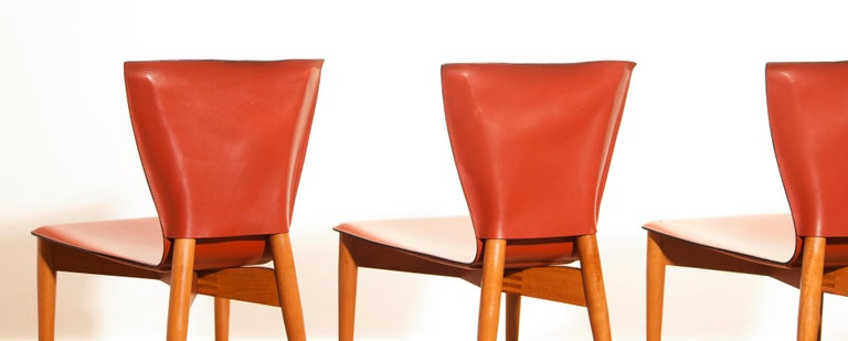 1970s, Set of Four Carlo Bartoli for Matteo Grassi 'Vela' Dining Side Chairs For Sale 3