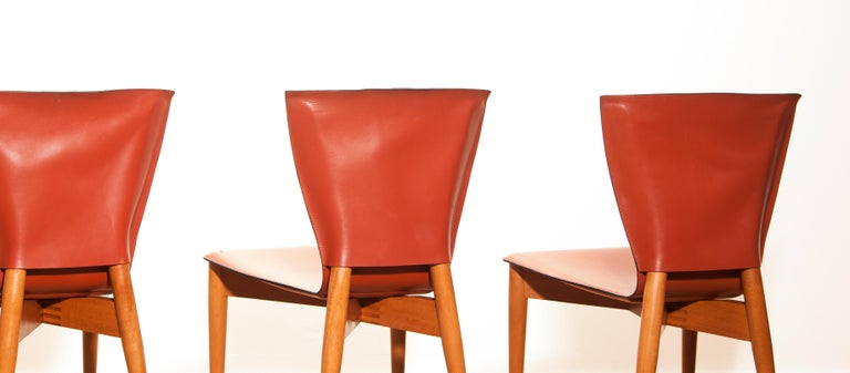 1970s, Set of Four Carlo Bartoli for Matteo Grassi 'Vela' Dining Side Chairs For Sale 4