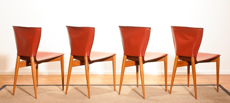1970s, Set of Four Carlo Bartoli for Matteo Grassi 'Vela' Dining Side Chairs For Sale 5