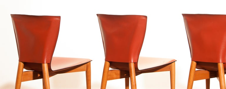 1970s, Set of Four Carlo Bartoli for Matteo Grassi 'Vela' Dining Side Chairs For Sale 6