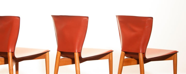 1970s, Set of Four Carlo Bartoli for Matteo Grassi 'Vela' Dining Side Chairs For Sale 7