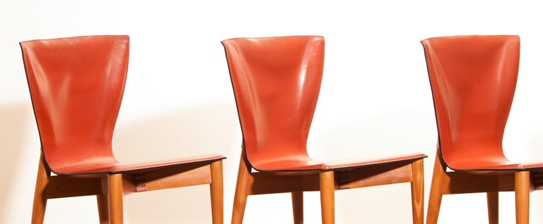 1970s, Set of Four Carlo Bartoli for Matteo Grassi 'Vela' Dining Side Chairs For Sale 8