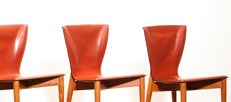 1970s, Set of Four Carlo Bartoli for Matteo Grassi 'Vela' Dining Side Chairs For Sale 9