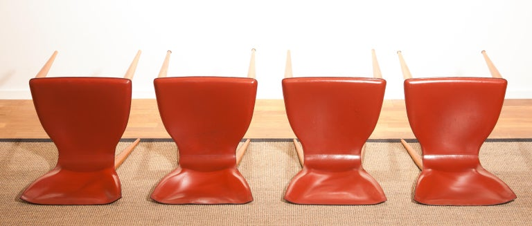 1970s, Set of Four Carlo Bartoli for Matteo Grassi 'Vela' Dining Side Chairs For Sale 10