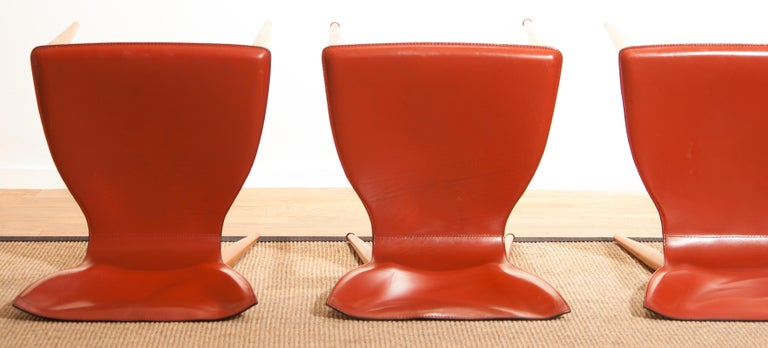 1970s, Set of Four Carlo Bartoli for Matteo Grassi 'Vela' Dining Side Chairs For Sale 11