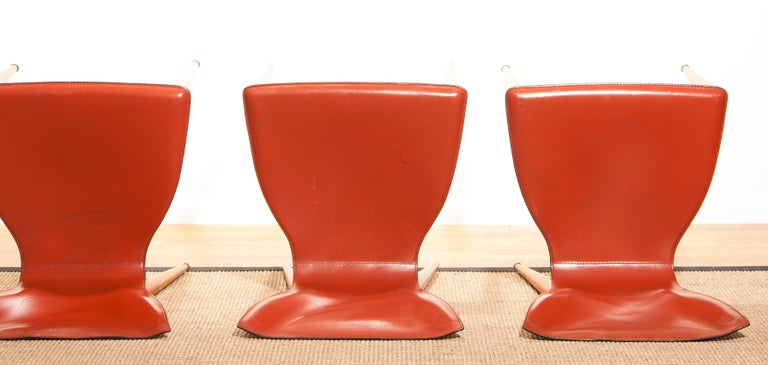 1970s, Set of Four Carlo Bartoli for Matteo Grassi 'Vela' Dining Side Chairs For Sale 12