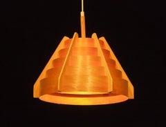 1960s, Pine Bentwood Pendant by Hans-Agne Jakobsson for Ellysett