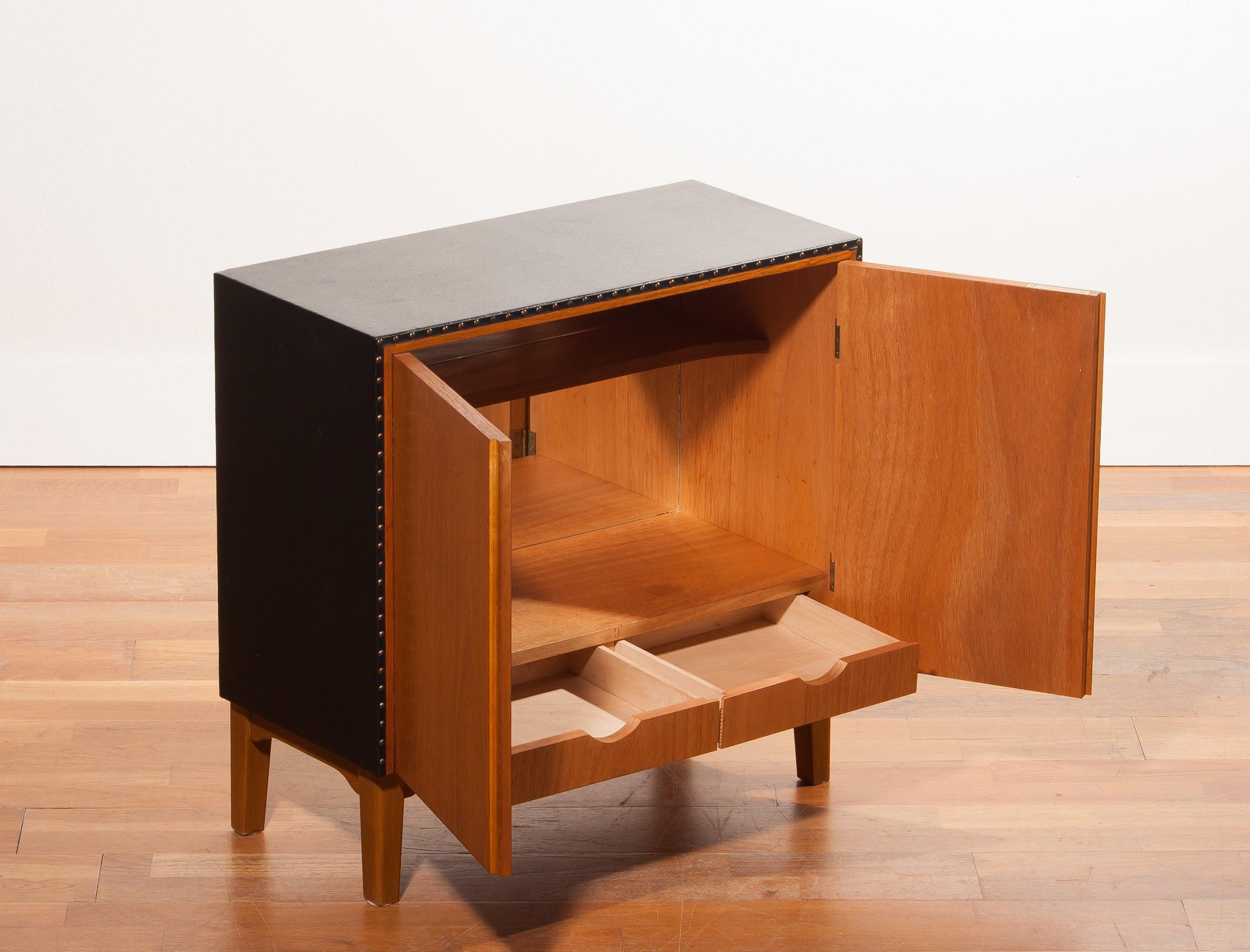 1950s, Teak and Leatherette Mini-Bar by Bertil Fridhagen for ...