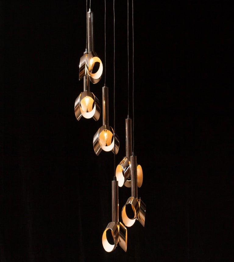 1960s, Chromed Metal Ceiling Lamp RAAK, Amsterdam For Sale 3