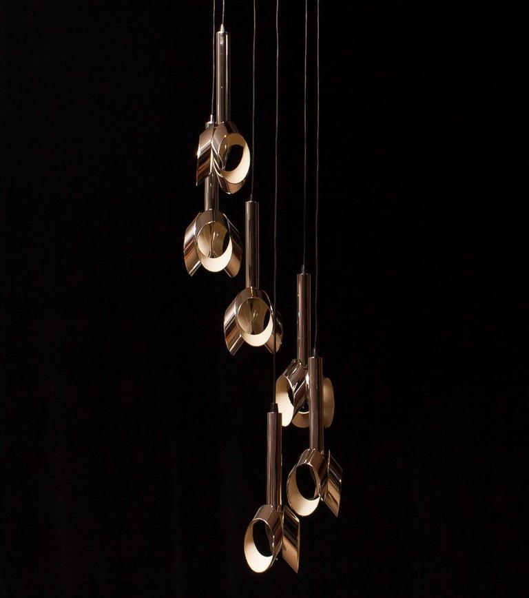 1960s, Chromed Metal Ceiling Lamp RAAK, Amsterdam For Sale 2