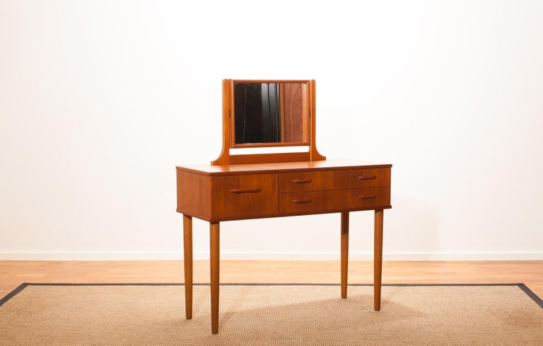 1950s Beautiful Teak Dressing Table by Ulferts, Sweden For Sale 1