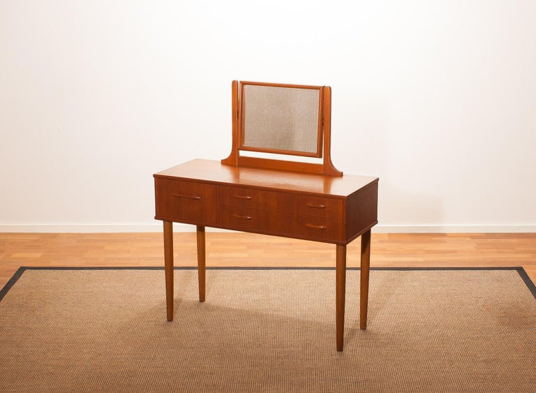 Swedish 1950s Beautiful Teak Dressing Table by Ulferts, Sweden For Sale