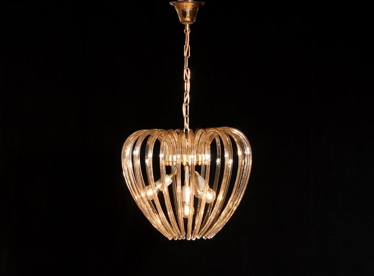 Lovely chandelier by Murano, Italy.