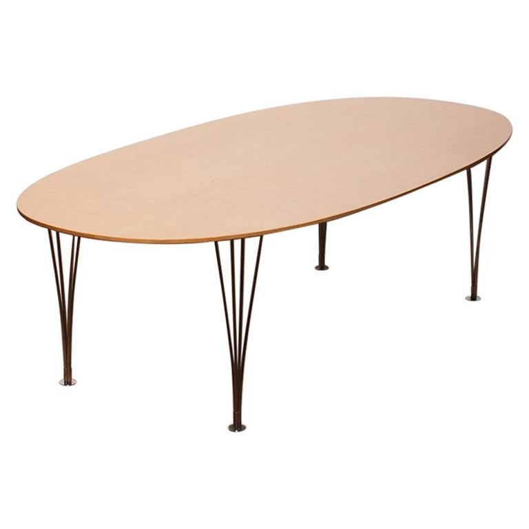 1960s, 'Superelipse' Dining Table by Piet Hein & Bruno Mathsson