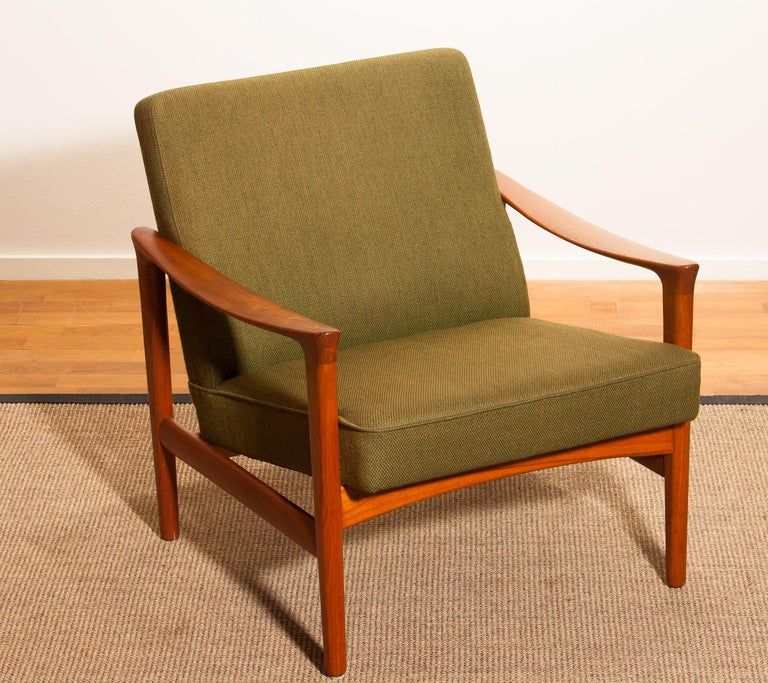Mid-20th Century 1960s, Teak Lounge Chair by Erik Wørts for Bröderna Andersson For Sale