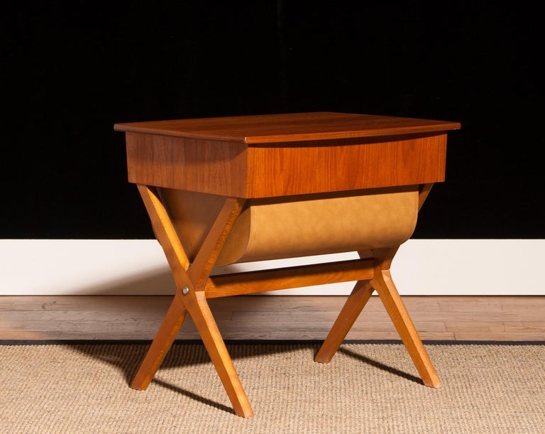1960s, Teak Sewing, Side Table from Sweden For Sale 2